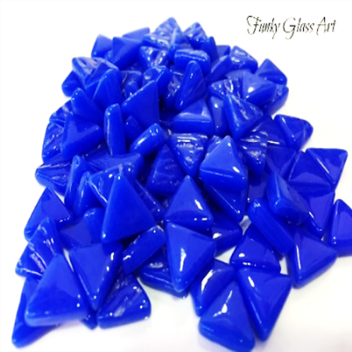 Glass Triangles 10mm -Brillant Blue