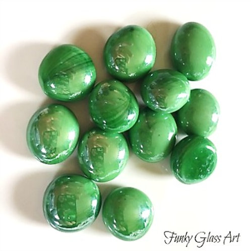 Mini Glass Gems - Green