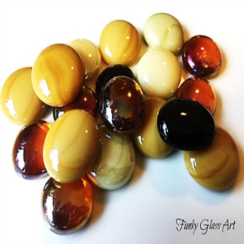 Glass Gems - Topaz Caramel Mix