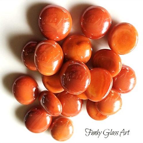 Mini Glass Gems - Orange