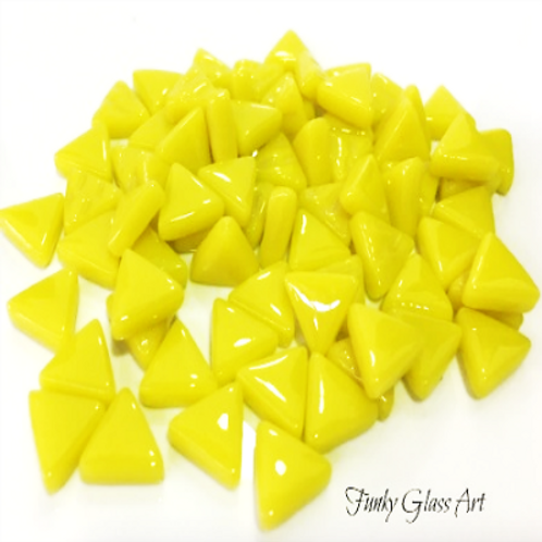 Glass Triangles 10mm - Yellow