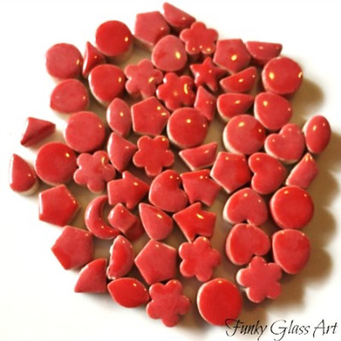 Mini Ceramic Charms -Red