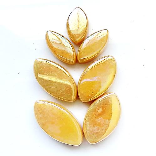Iridised Amber Glass Petals