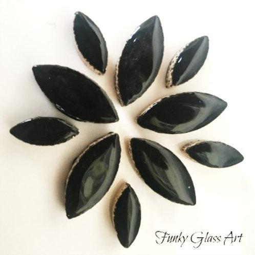 Ceramic Petals - Black