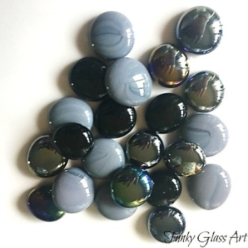 Glass Gems - Black Tuxedo Mix