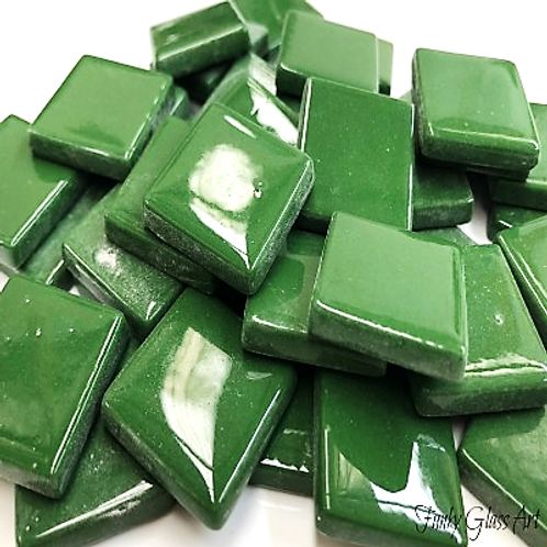 Glass Squares 23x23 - Moss Green