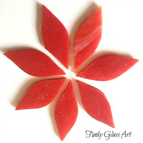 Stained Glass Small Petals -Deep Red