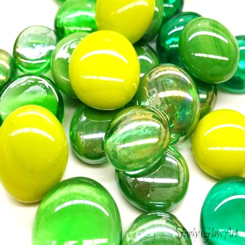 Glass Gems - Green Mix