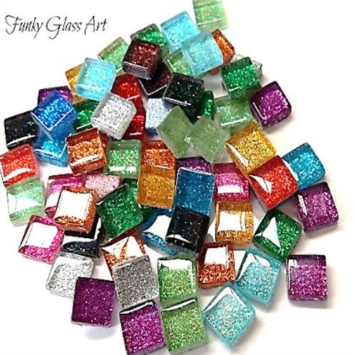 Glitter 10x10 Rainbow Mix