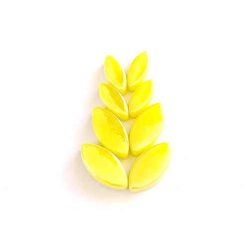 Iridised Yellow Glass Petals