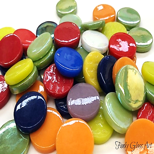Penny Rounds 18mm - Brights Medley Mix