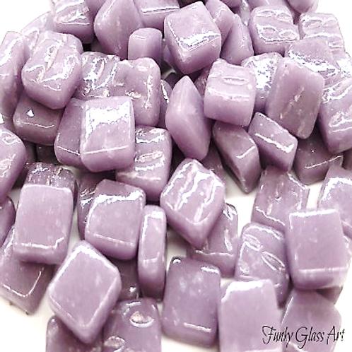 Glass Squares 8x8mm - Lilac