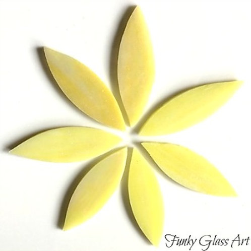 Stained Glass Large Petals -Lemon Grass