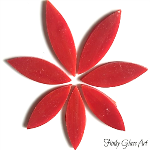 Stained Glass Large Petals -Deep Red
