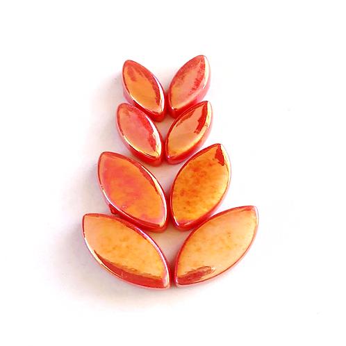 Iridised Watermelon Glass Petals