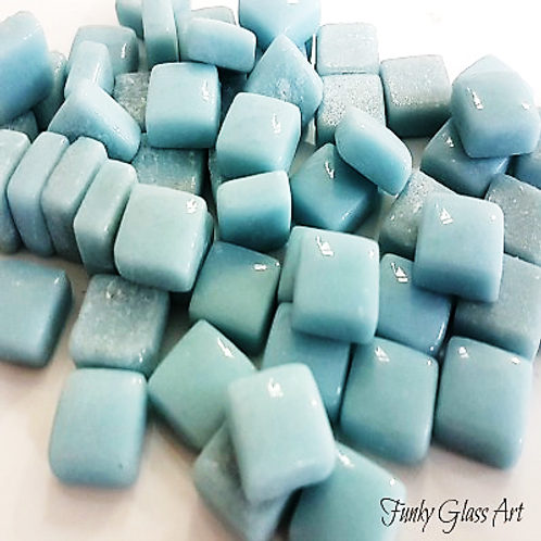 Glass Squares 12x12 - Baby Blue