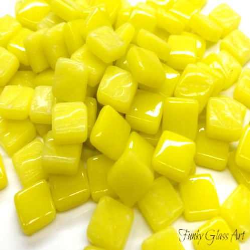 Glass Squares 8x8mm - Yellow