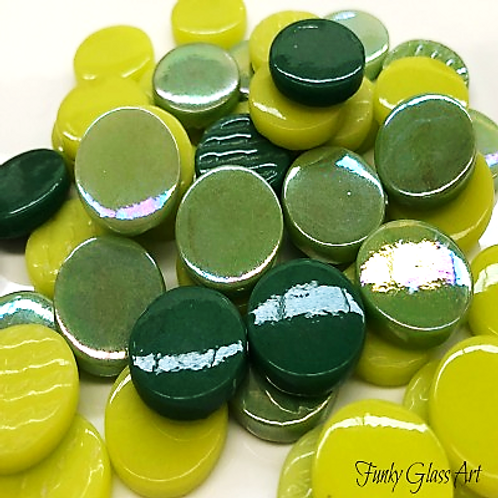 Penny Rounds 18mm - Green Snapper Mix
