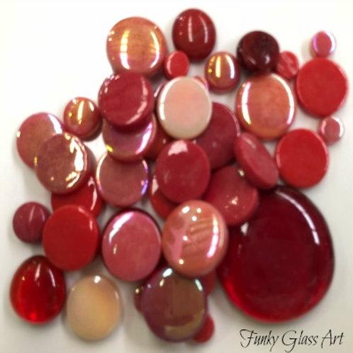 Glass Round Mix - Reds