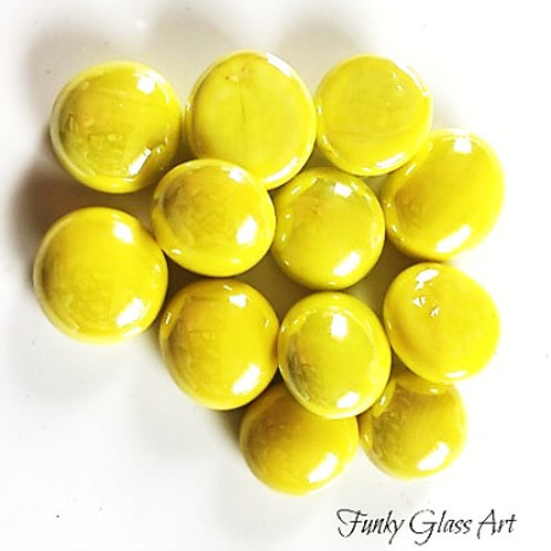 Mini Glass Gems - Yellow