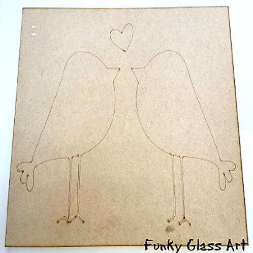 Love Birds Engraved Base