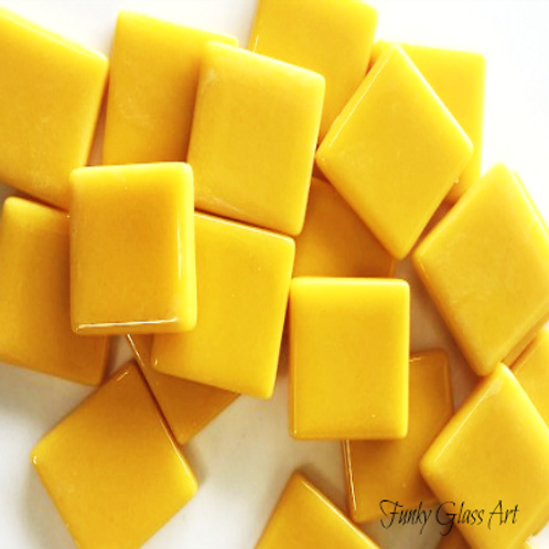 Glass Squares 23x23 - Mango
