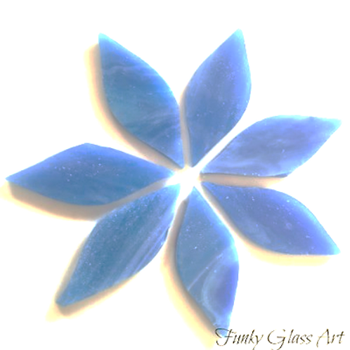 Stained Glass Small Petals -Dream Blue