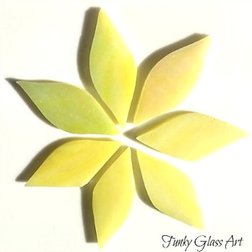 Stained Glass Small Petals -Lemon Grass
