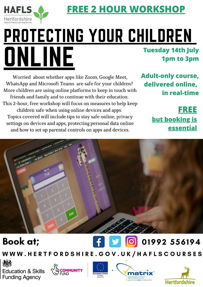 Online protection for children 14th July