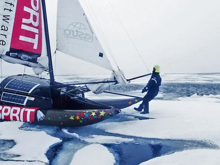 Unusual boat to sail the Arctic