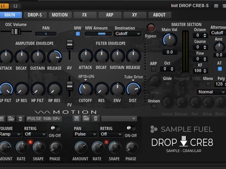 SAMPLE FUEL releases DROP-CRE8 a completely FREE Drag N Drop Instrument