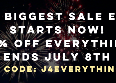 SAMPLE FUEL - OUR BIGGEST SALE EVER STARTS NOW! 25% OFF EVERYTHING ENDS JULY 8th