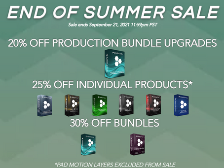 SAMPLE FUEL - OUR 'END OF THE SUMMER' SALE STARTS NOW! ENDS SEPTEMBER 21st