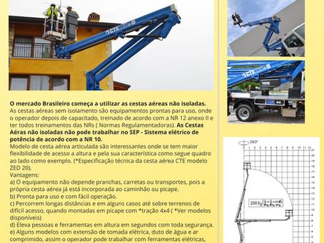 Matéria sobre cesta aérea no Brasil com especialista e autor de livro Jacques Chovghi Iazdi