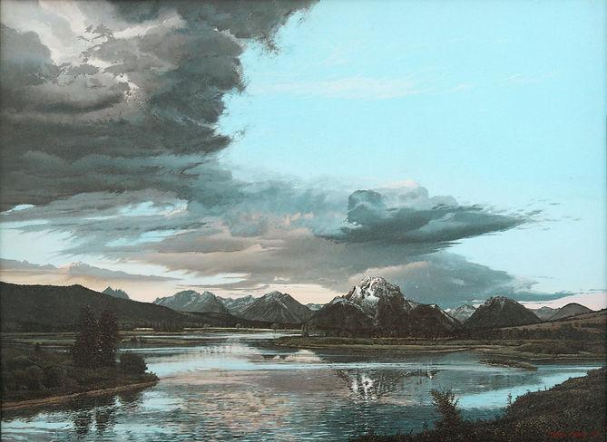 _Mount Moran_  painting 20 x 28