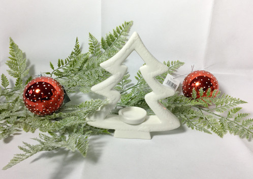 these white ceramic christmas tree tealight holders are the perfect accompaniment to your winter decor they have such a modern cosy look and feel to them - White Ceramic Christmas Tree
