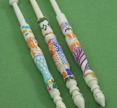Character Bobbins by A R Archer Ltd - Finest Quality Bone Lace Bobbins