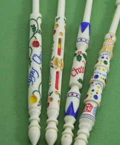 Festive Bobbins by A R Archer Ltd - Finest Quality Bone Lace Bobbins
