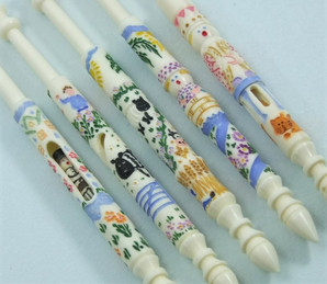 Nursery Rhymes Bobbins by A R Archer Ltd - Finest Quality Bone Lace Bobbins