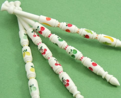 Fruit Rings Set by A R Archer Ltd - Finest Quality Bone Lace Bobbins