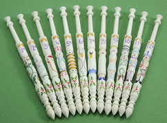 The 12 Days of Christmas by A R Archer Ltd - Finest Quality Bone Lace Bobbins
