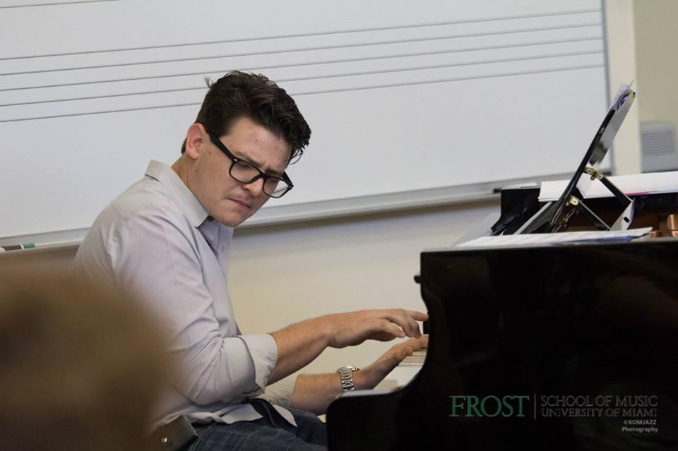Performing at Frost School of Music