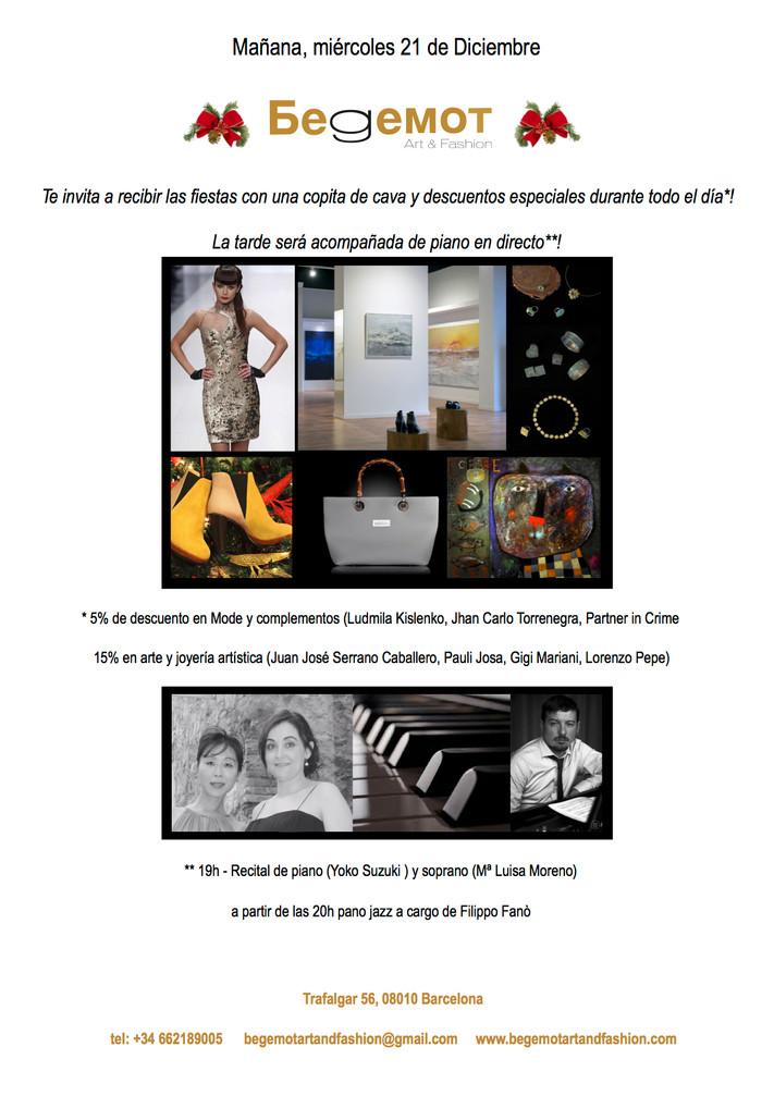 Mañana, miércoles 21 de Diciembre descuentos en Begemot entre música de piano y champagne!