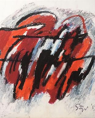 Senza titolo, mista su carta intelata, 88x90 cm, 2013.jpg