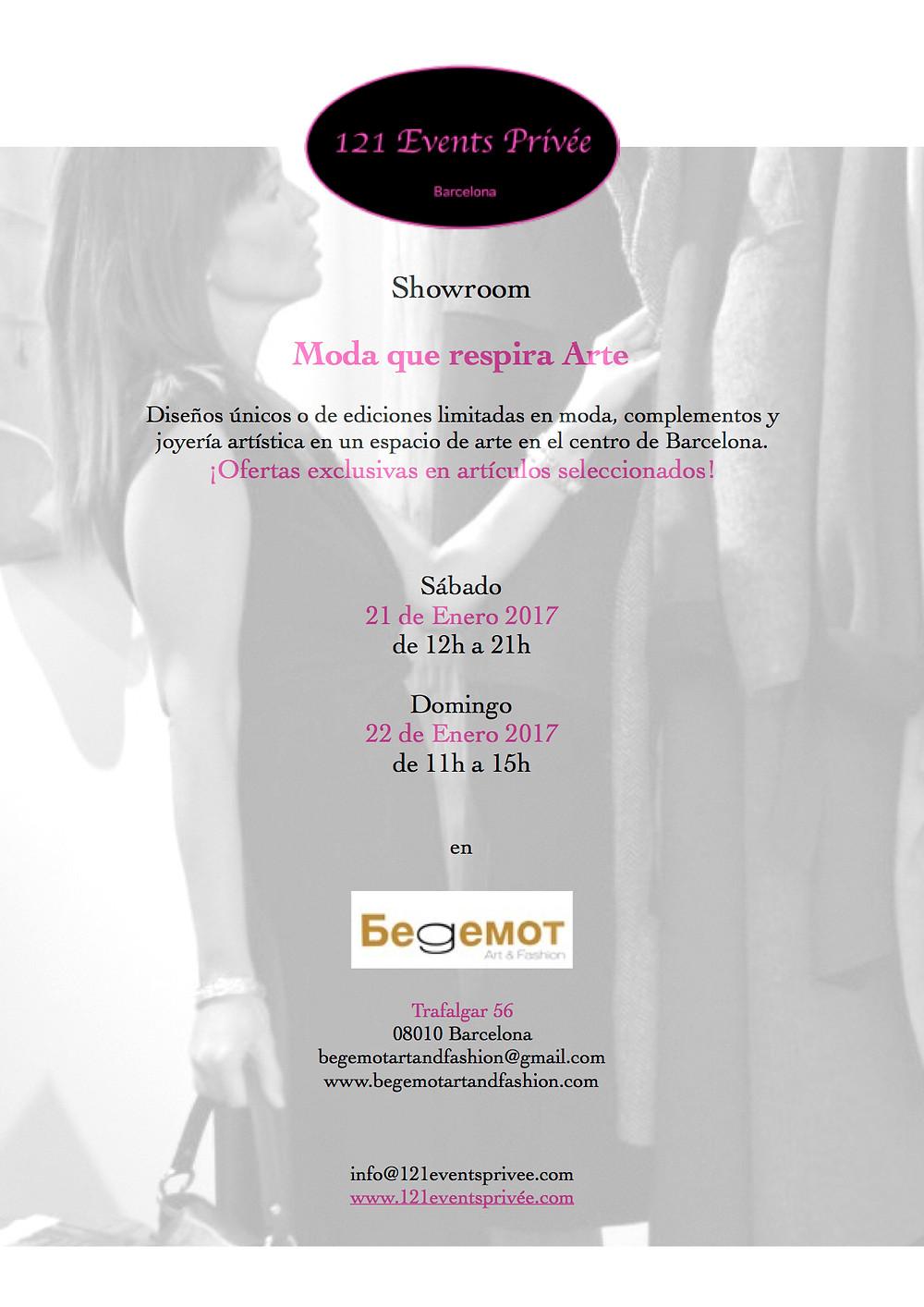 21.01.2017 de 12h a 21h y el 22.01.2017 de 11h a 15h Showroom en colaboración con 121 Events Privée. www.121eventsprivee.com
