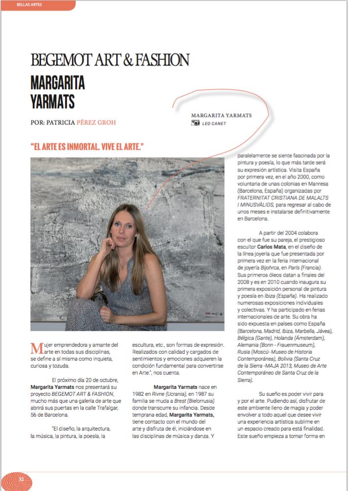 Artepoli. Entrevista a Margarita Yarmats