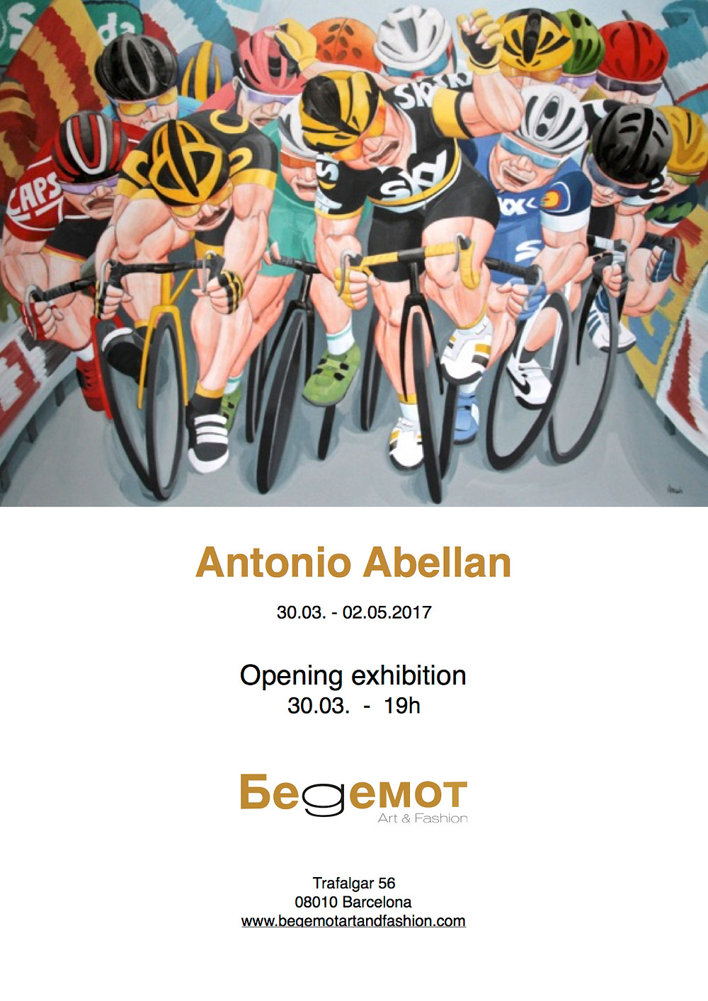 Exposición Antonio Abellan del 30.03 al 2.05 en Begemot Art & Fashion