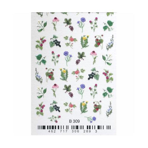 B309 Flower Garden 3D Waterdecal | Abstract