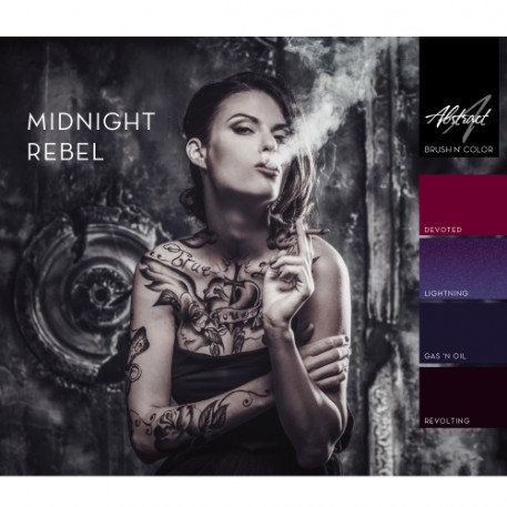 Midnight Rebel Collection | Abstract Brush N' Color