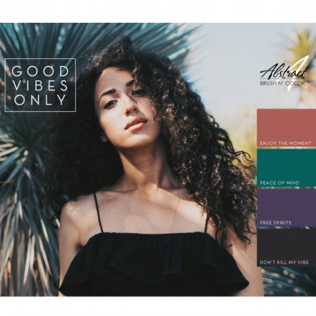 Good Vibes Only Collection | Abstract Brush N' Color